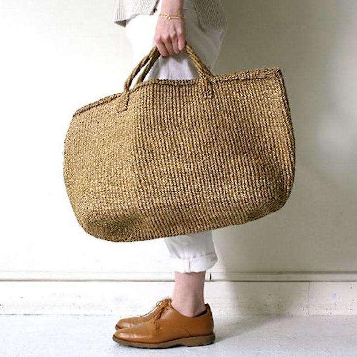 Sisal Basket Bag Ellipse at Eight Hundred Ships & Co.