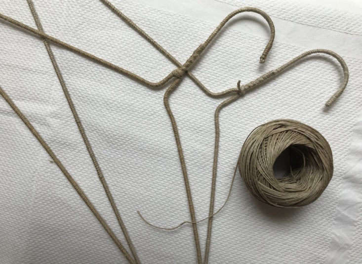 DIY twine-wrapped clothes hangers from Do Design, Madrid.