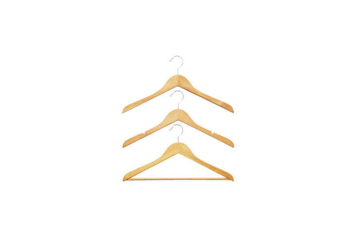 Container Store Wood Hangers New