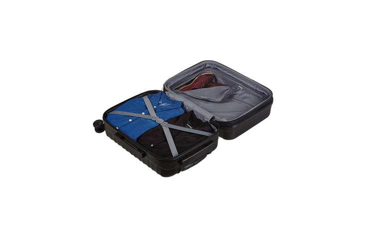 Amazon Basics Hardside Luggage in Black