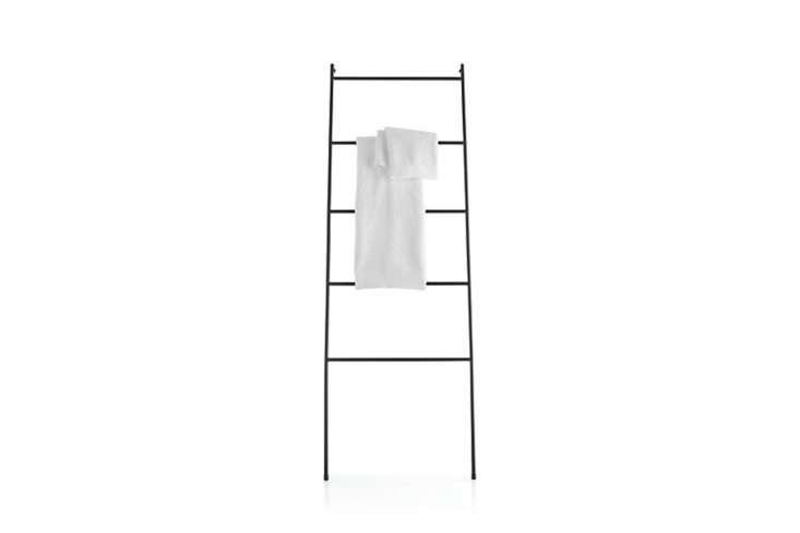 Crate & Barrel Jackson Black Towel Ladder