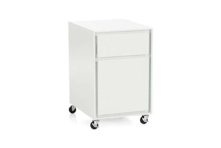 Crate & Barrel PIlsen Salt File Cabinet