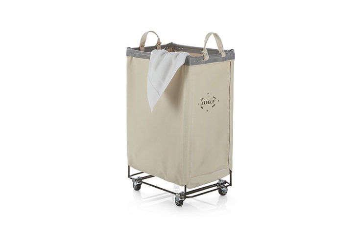Crate & Barrel Steele Vertical Laundry Cart