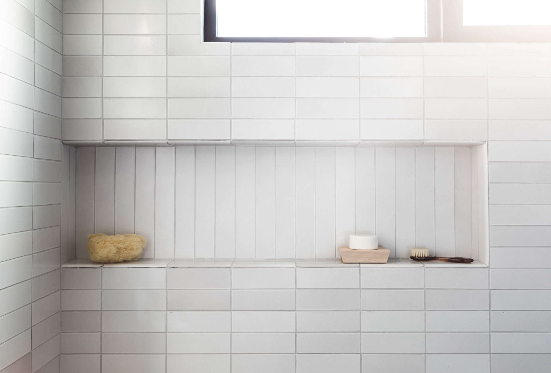 Archive Dive 10 Tiled Bathrooms With Niched Shelves
