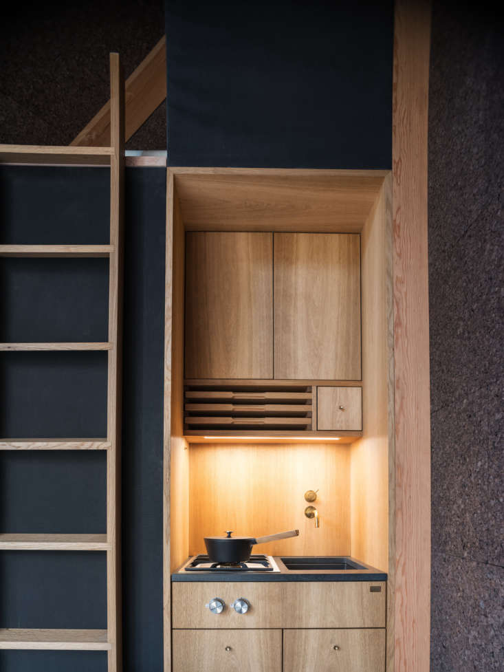 A45 tiny house by BIG from Klein, kitchen by KBH. Københavns Møbelsnedkeri; Matthew Carbone photo.