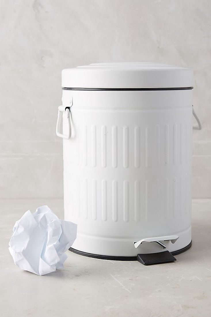 Anthropologie Powder Coated Trash Can