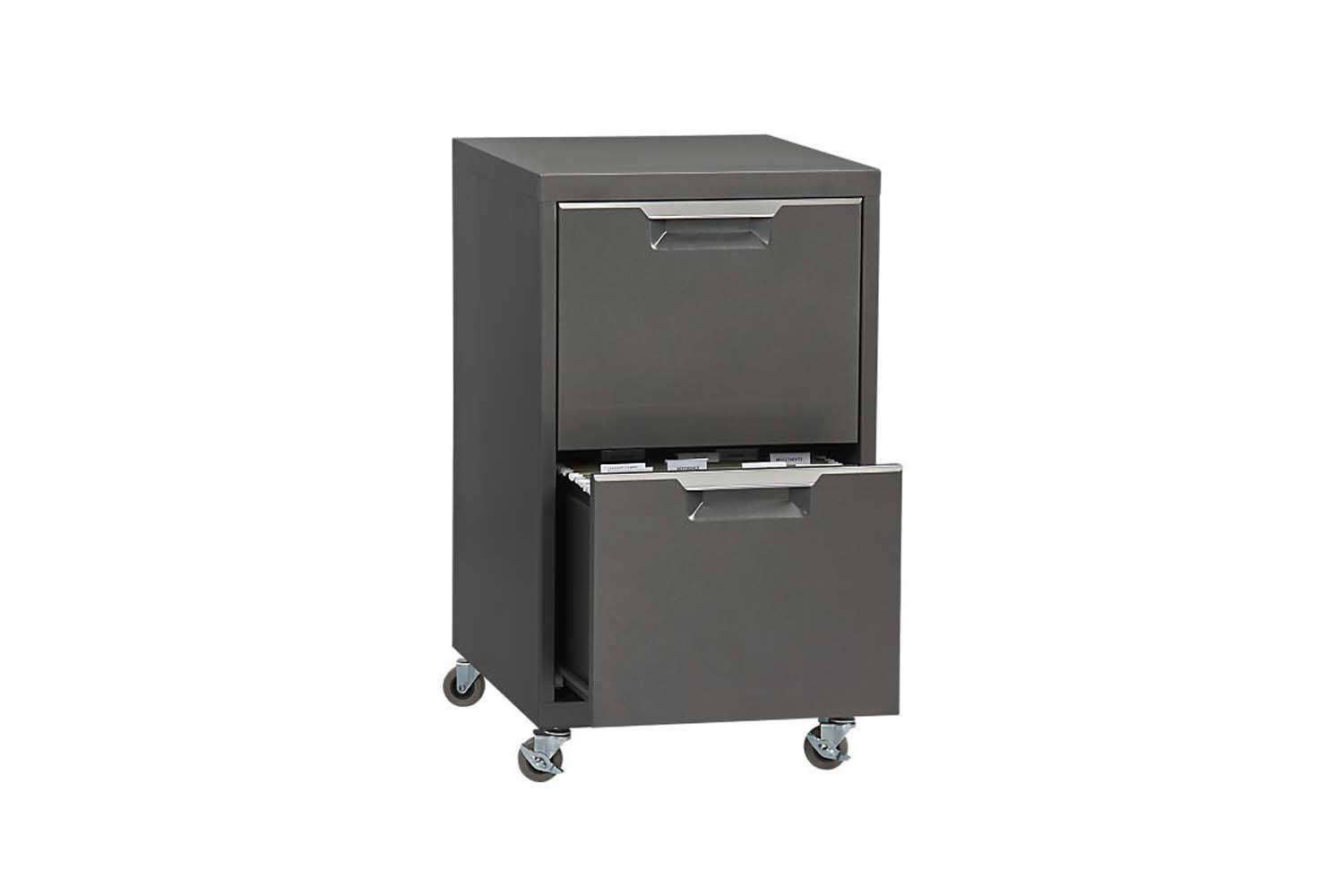 CB2 TPS Carbon 2-Drawer Filing Cabinet
