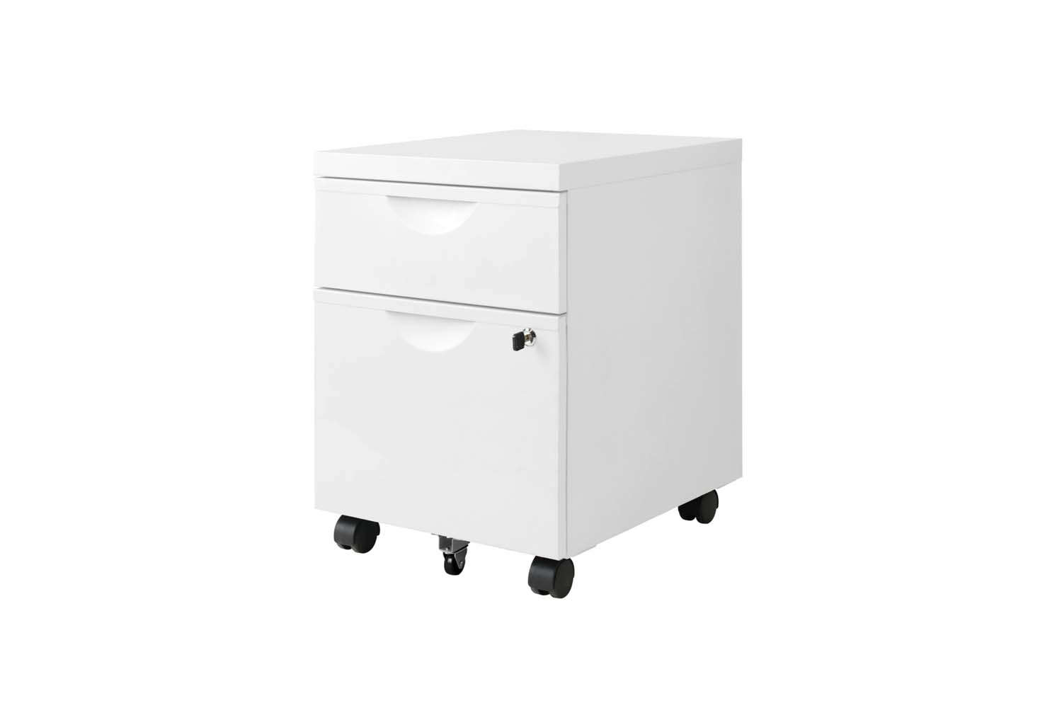 Ikea Erik Drawer Unit 2-Drawers Casters White