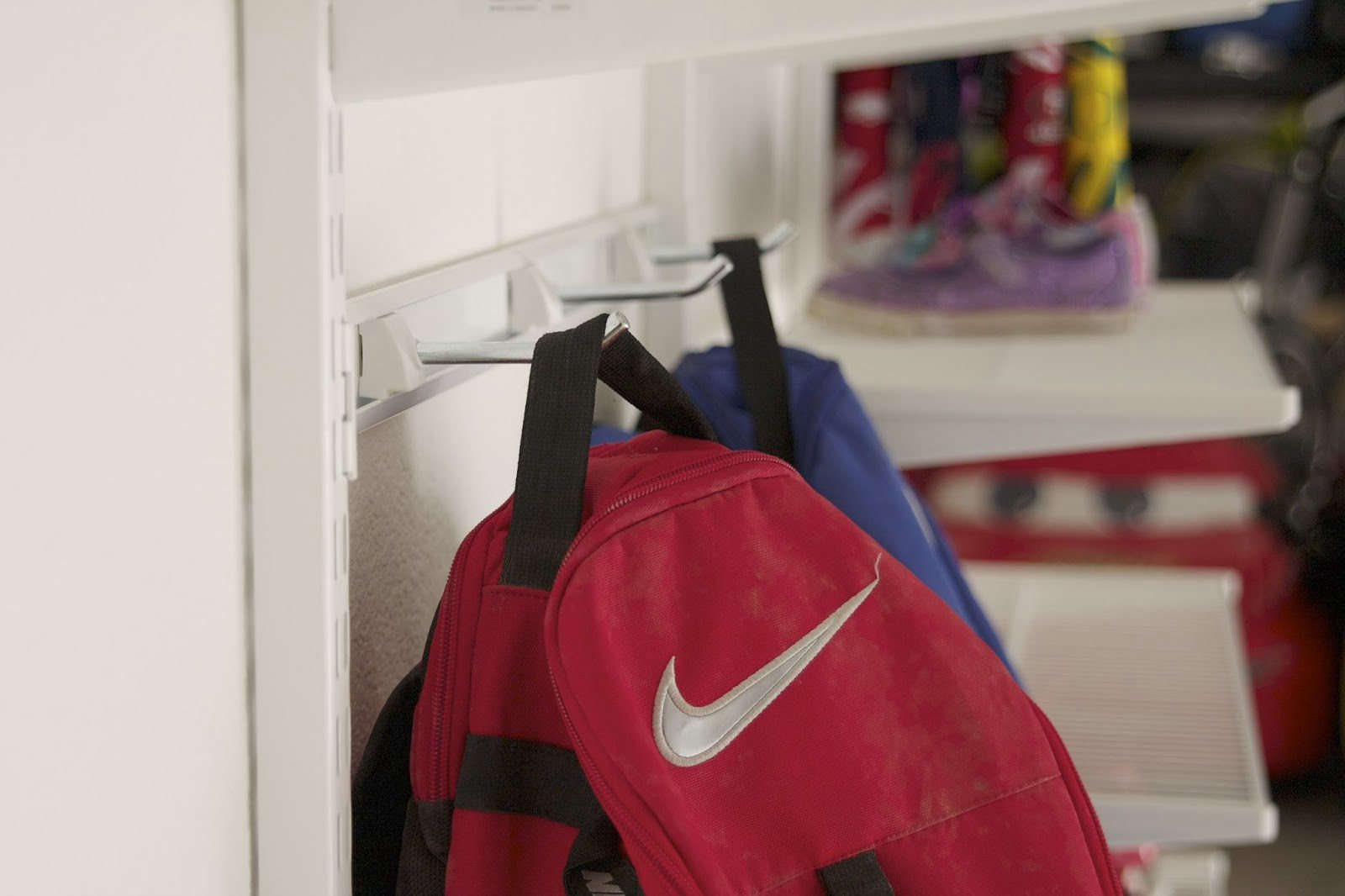 Simply Organized Garage Mudroom