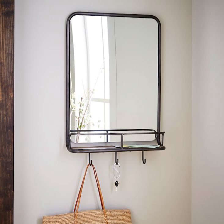West Elm Entryway Mirror and Hooks