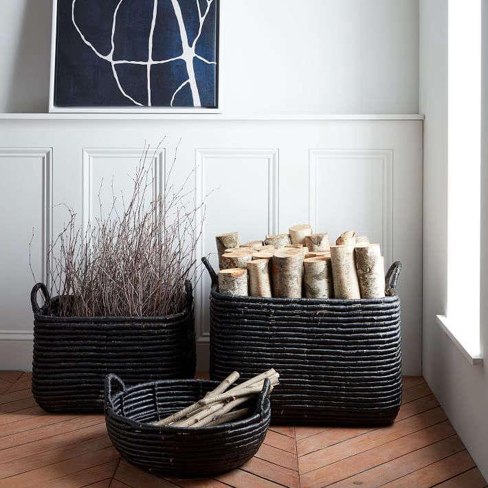 West Elm Woven Seagrass Baskets