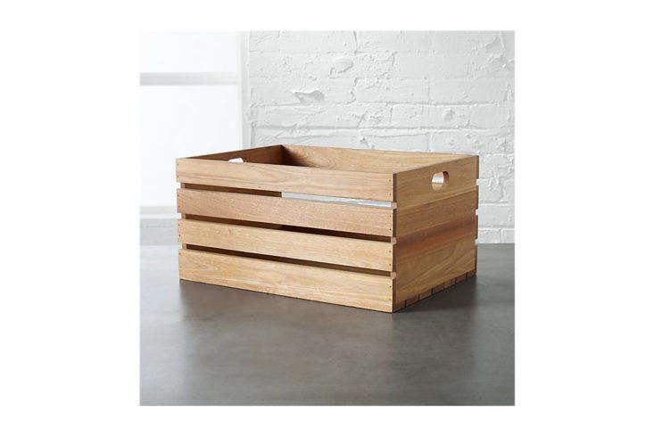 CB2 Eucalyptus Large Storage Box