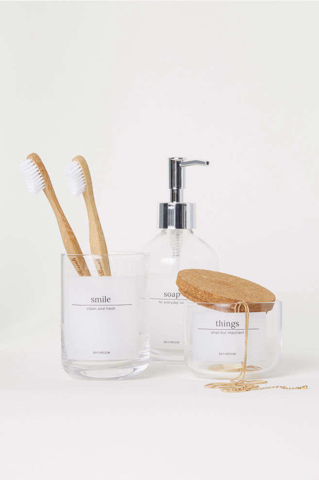 H&M Home Small Glass Jar