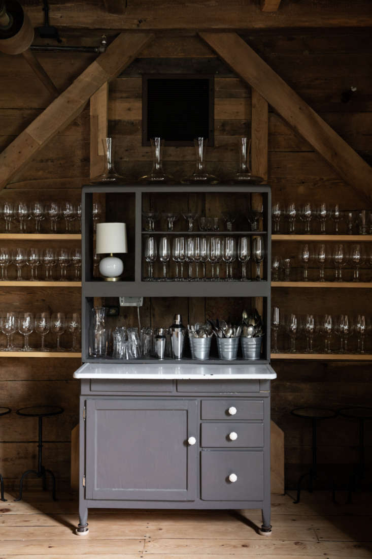 Glassware Hutch at The Lost Kitchen in Maine, Photo by Greta Rybus for Remodelista