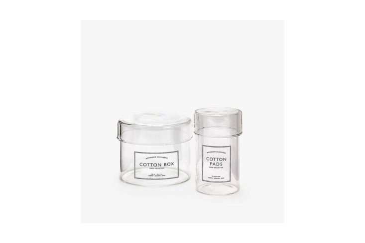 Zara Home Borosilicate Glass Jars with Message