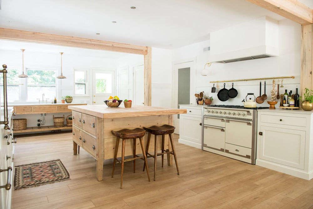 White Wood Homeschool Kitchen Jodi Mockabee Full Kitchen Angle