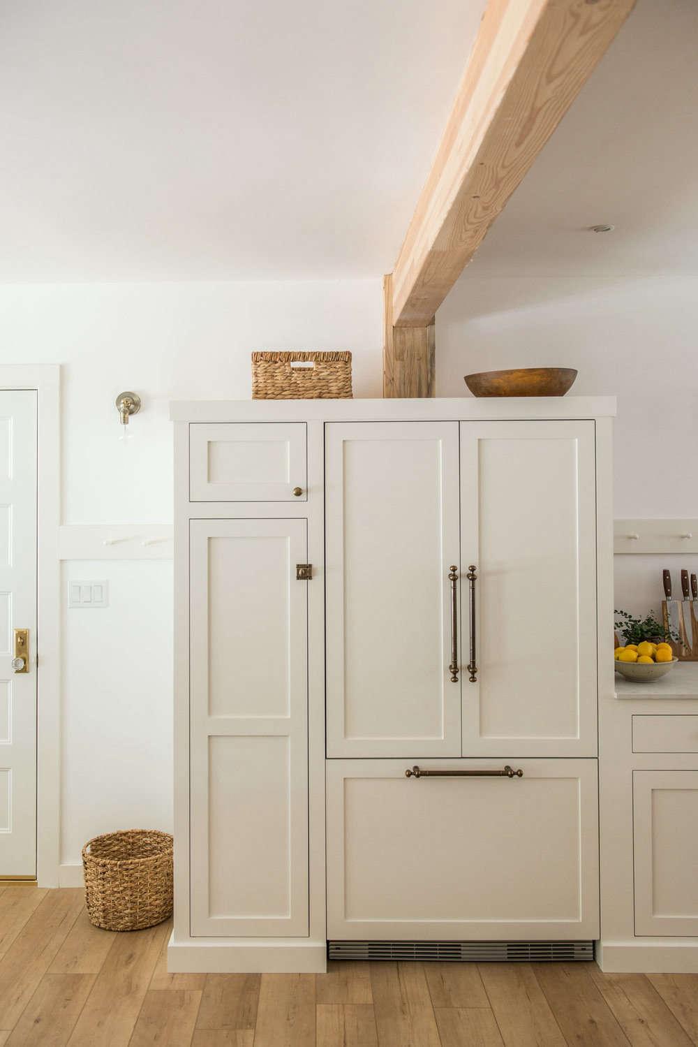 White Wood Homeschool Kitchen Jodi Mockabee Paneled Appliances