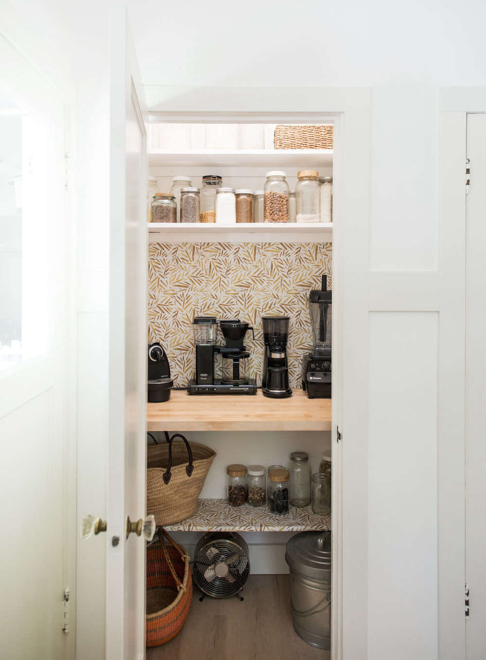 White Wood Homeschool Kitchen Jodi Mockabee Pantry