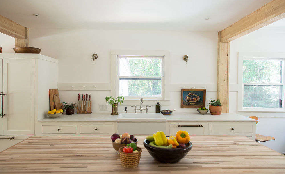 White Wood Homeschool Kitchen Jodi Mockabee Shaker Peg Rail