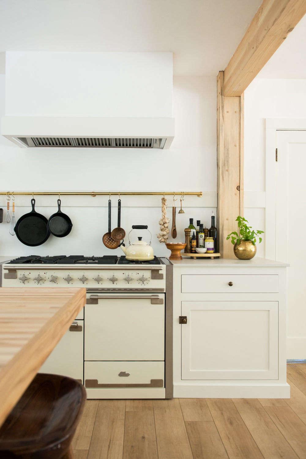 White Wood Homeschool Kitchen Jodi Mockabee Stove Beam Oils
