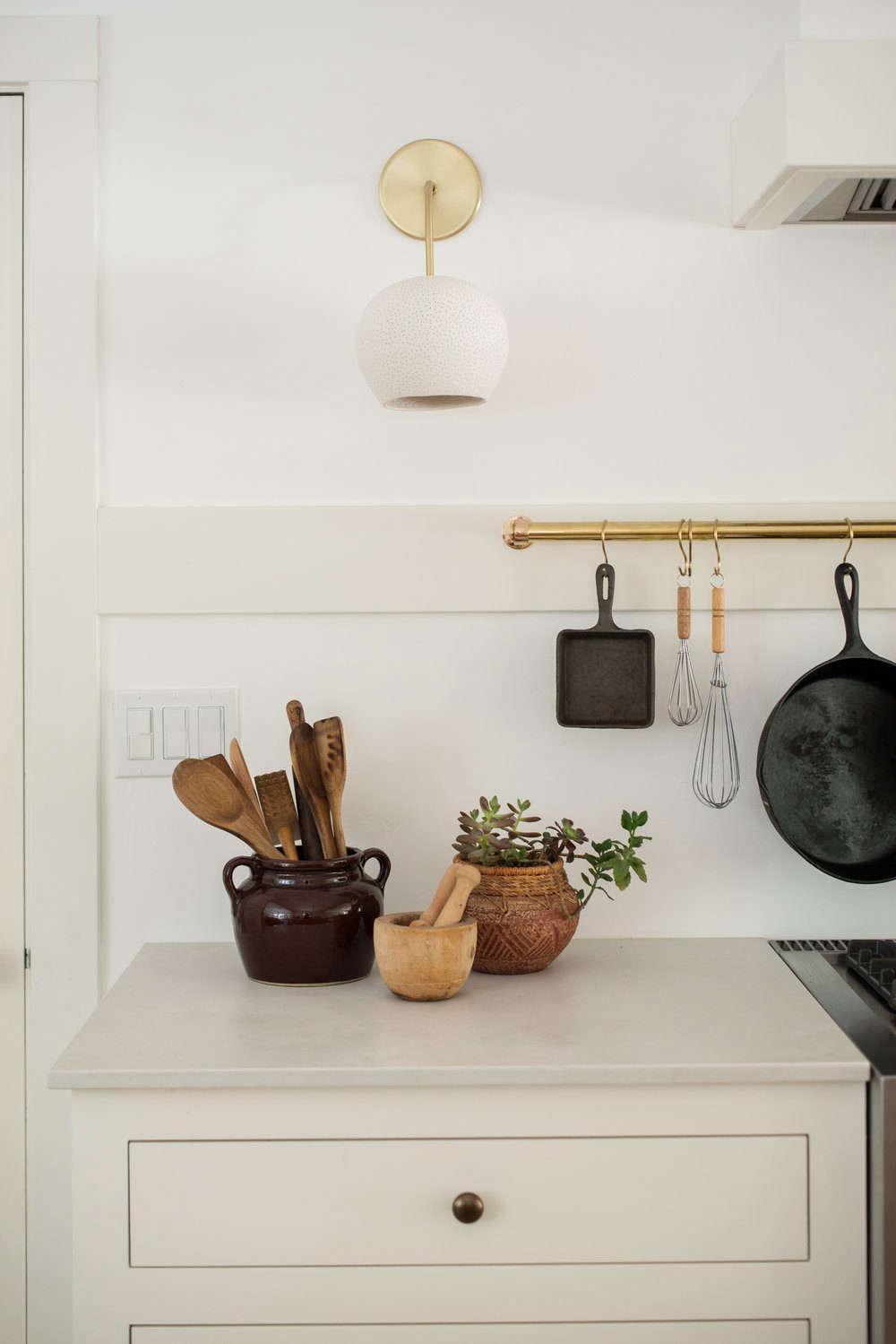 White Wood Homeschool Kitchen Jodi Mockabee Utensil Crock