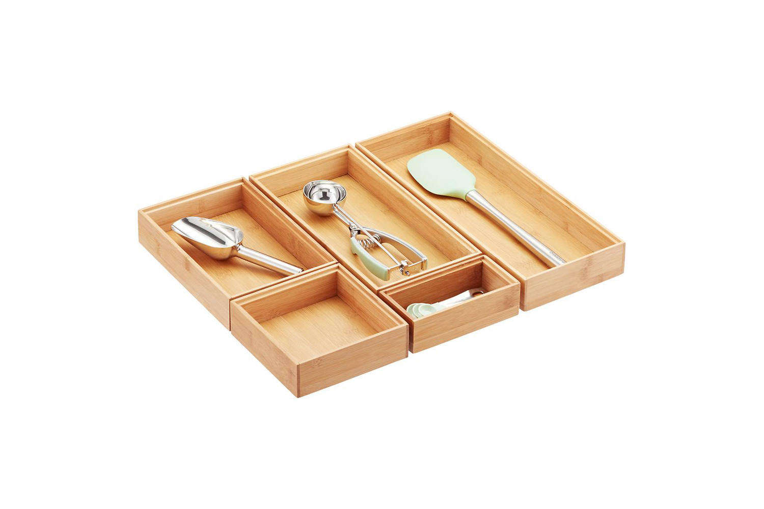 Williams Sonoma Stackable Bamboo Flatware Tray