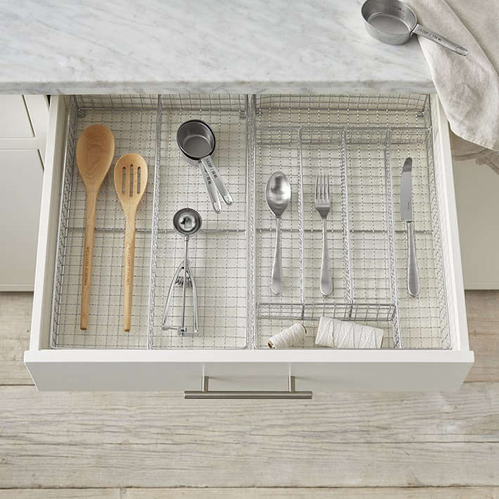 Williams Sonoma Stainless Steel Flatware Tray