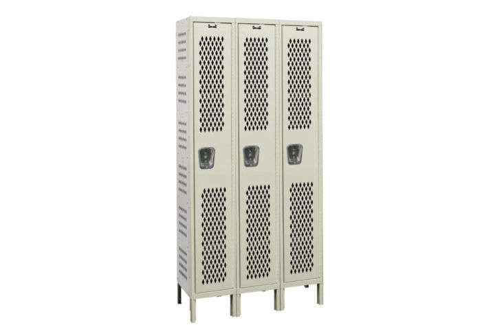 Hallowell Heavy Duty 1 Tier 3 Wide Gym Locker