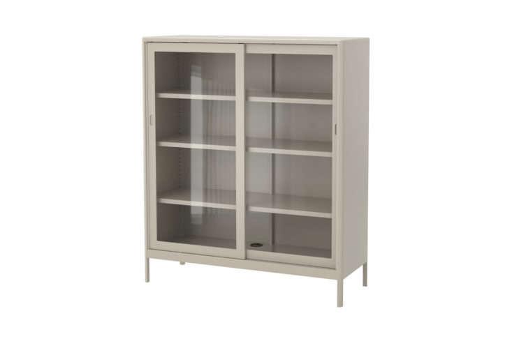 Ikea Idasen Cabinet with Sliding Glass Doors