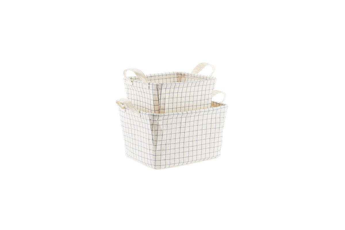 Quilted Canvas Bins from Container Store