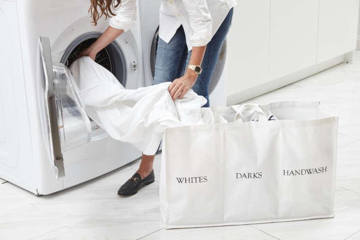 Laundress New Clothing Storage Compartment Hamper Lifestyle