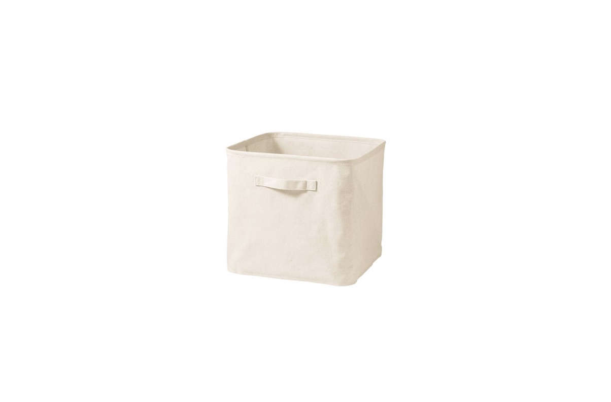 Muji's polyester cotton linen Soft Box is $18.