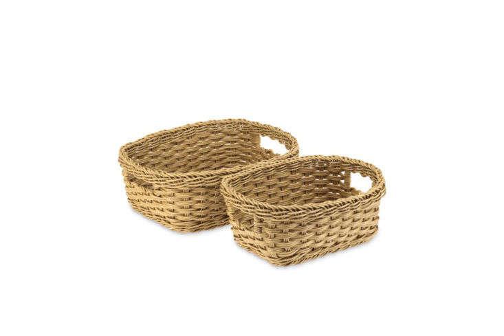 Williams Sonoma Panama Weave Washable Baskets