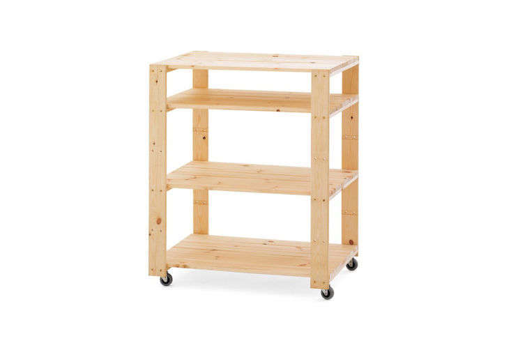 Williams Sonoma Swedish Wood Shelving Utility Cart