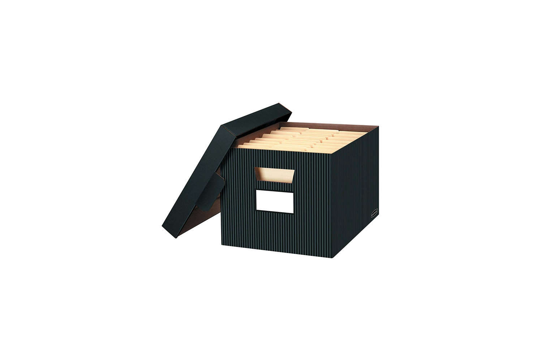 Cardboard Document Storage Boxes Bankers Box Black