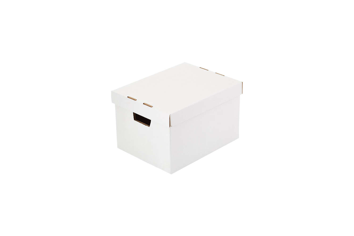 Cardboard Document Storage Boxes Container Store White