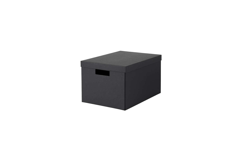 Cardboard Document Storage Boxes Ikea Tjena Black