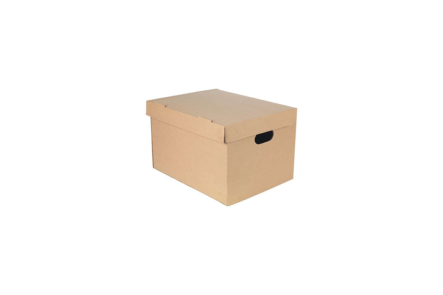 Cardboard Document Storage Boxes Natural Swing Lid