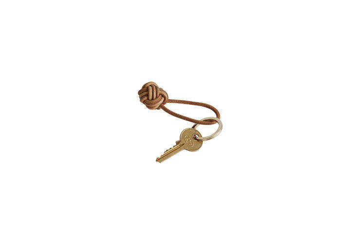 Oyoy Leather Knot Keyring at Huset