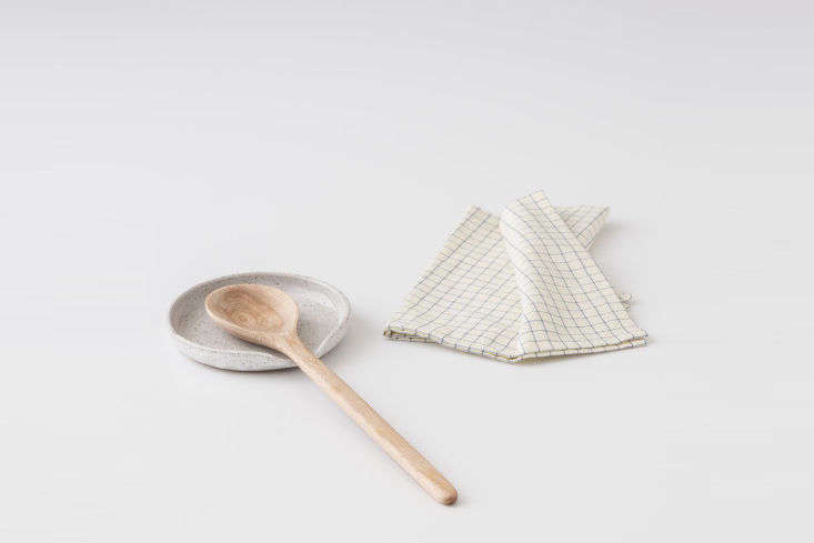 Speckled Stoneware Spoon Rest at Schoolhouse
