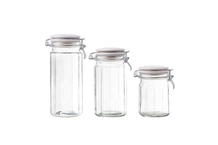 American Atelier Glass Canister Set with Ceramic Lids
