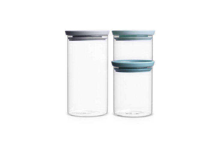 Brabantia Stackable Glass Food Storage Containers on Amazon