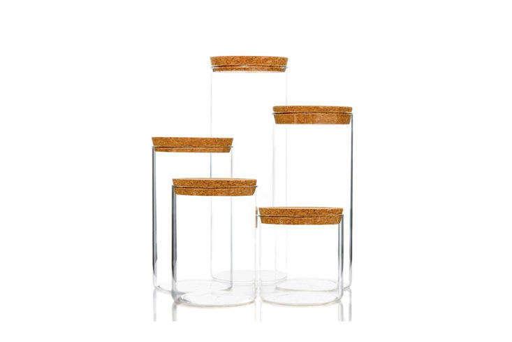 Wylder Kitchen Storage Containers with Cork Lids on Amazon