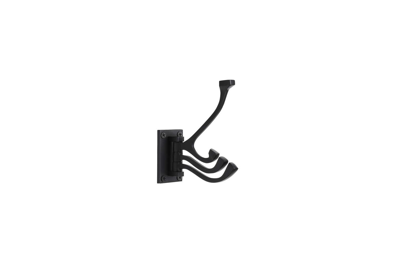 CB2 Black 3-Prong Swivel Hook