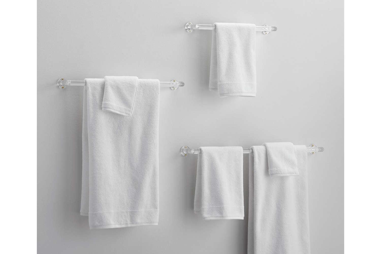CB2 Acrylic Towel Bars