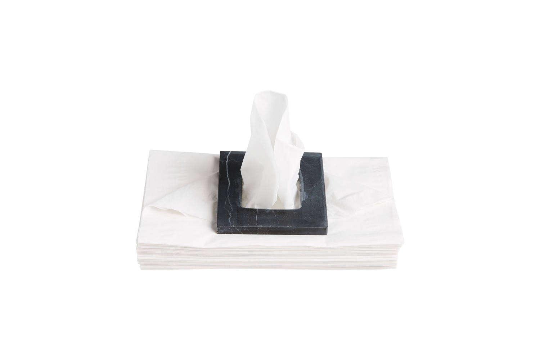 CB2 Black Marble Tissue Square