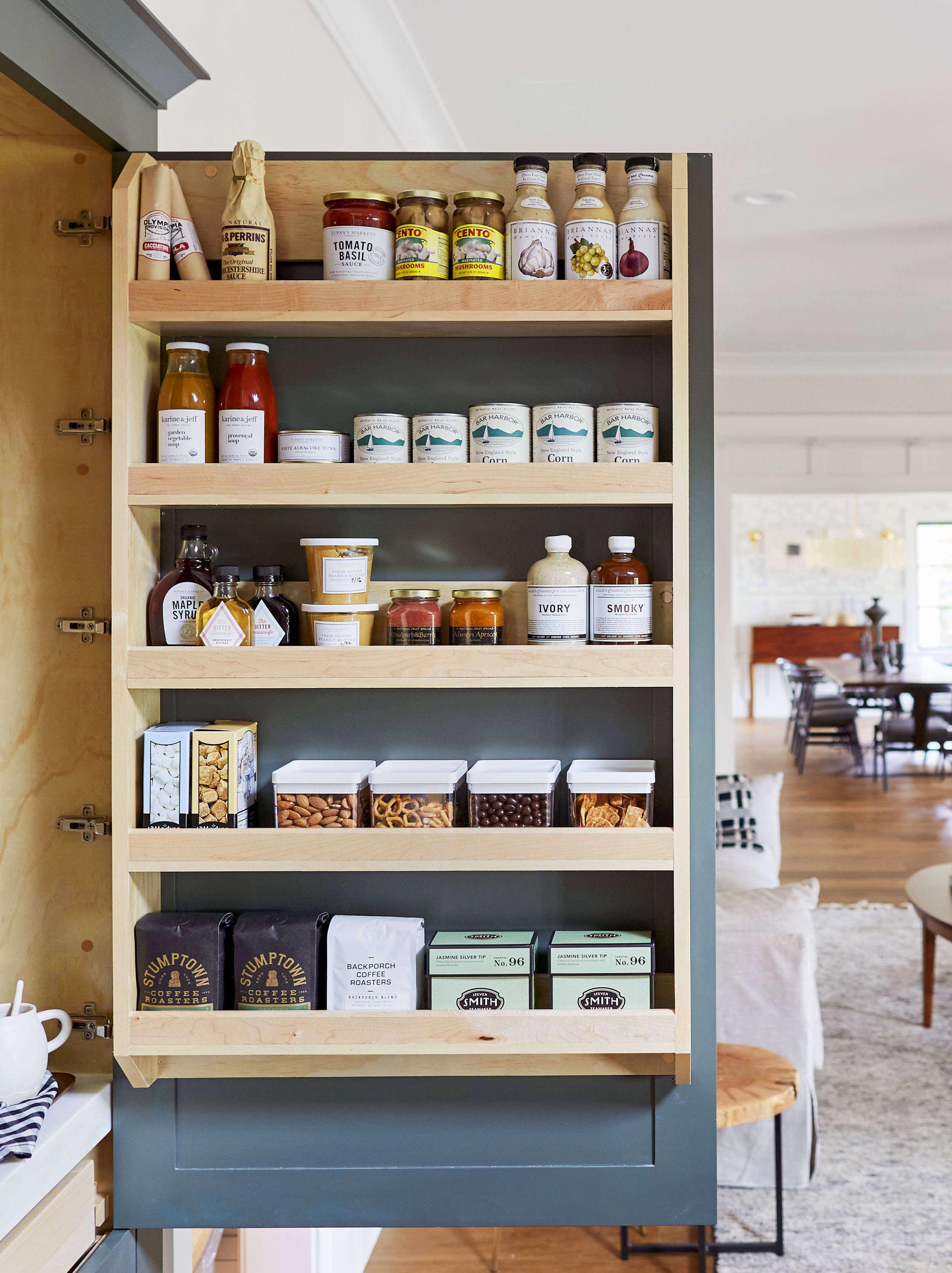 Emily Henderson Portland Pantry Cabinet Open