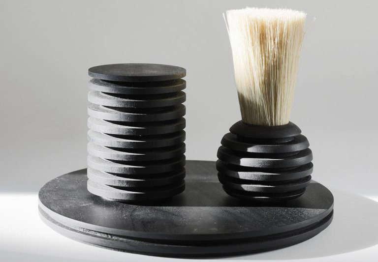 Rib Tray and Brush Set by Pat Kim at Tetra
