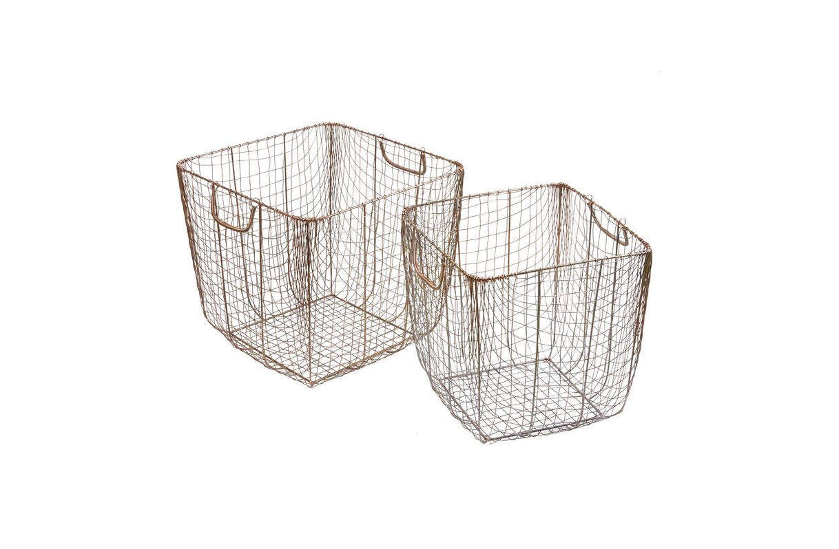 This Metal 2-Piece Basket Set is $83 at Birch Lane.