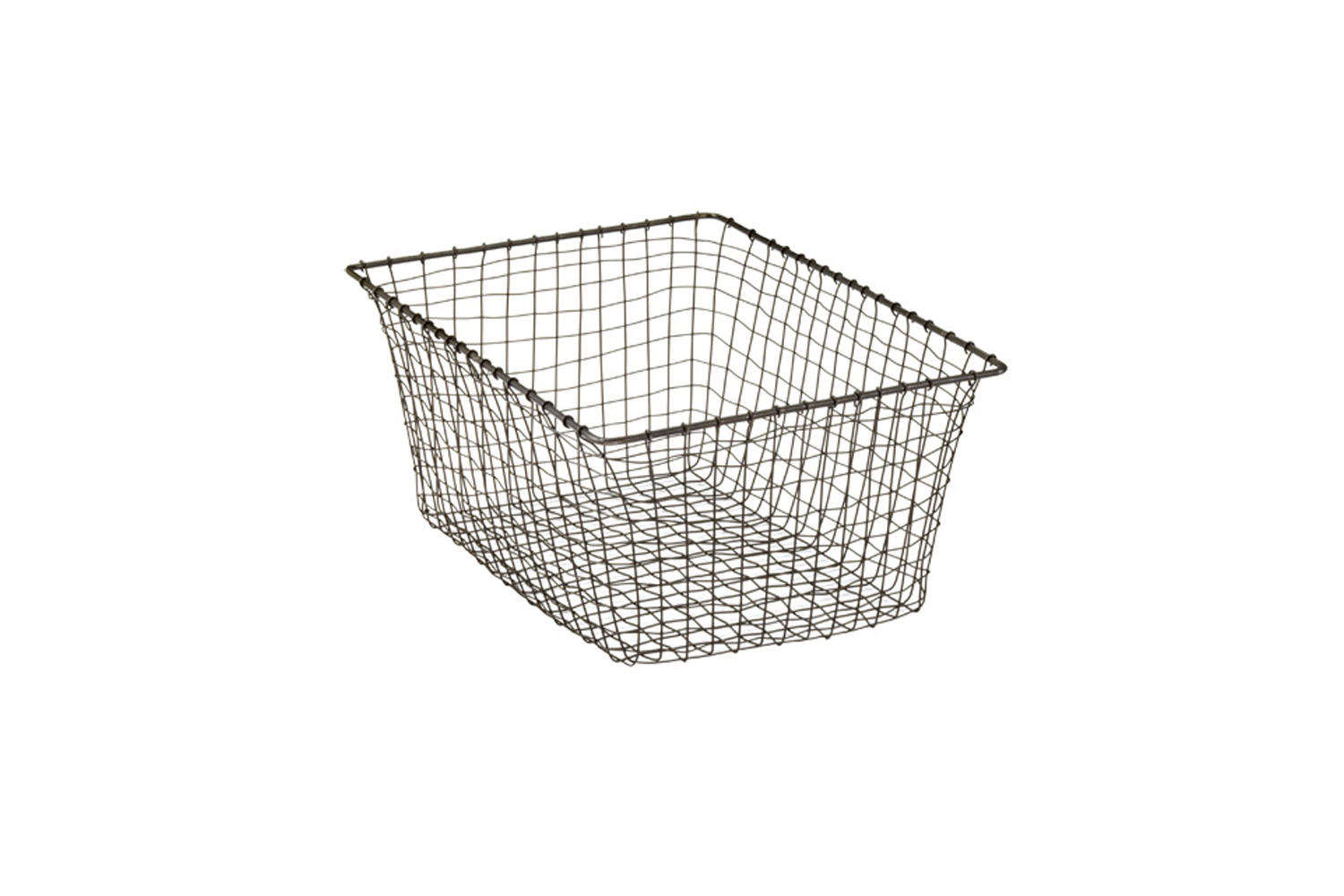 Container Store March Basket Rustic Steel